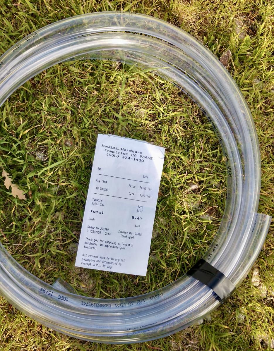 Vinyl hose $8.47