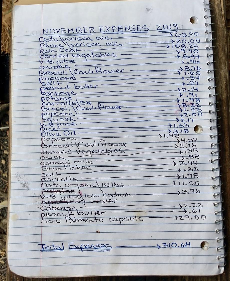 November 2019 Expenses