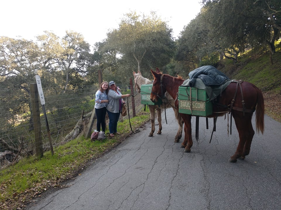 Mother and daughter with Little Girl and Little Ethel on School Road, San Juan Bautista