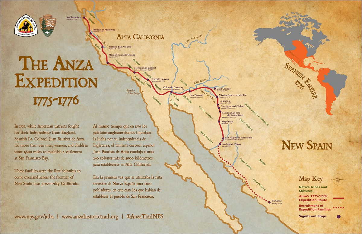 Anza Expedition Map