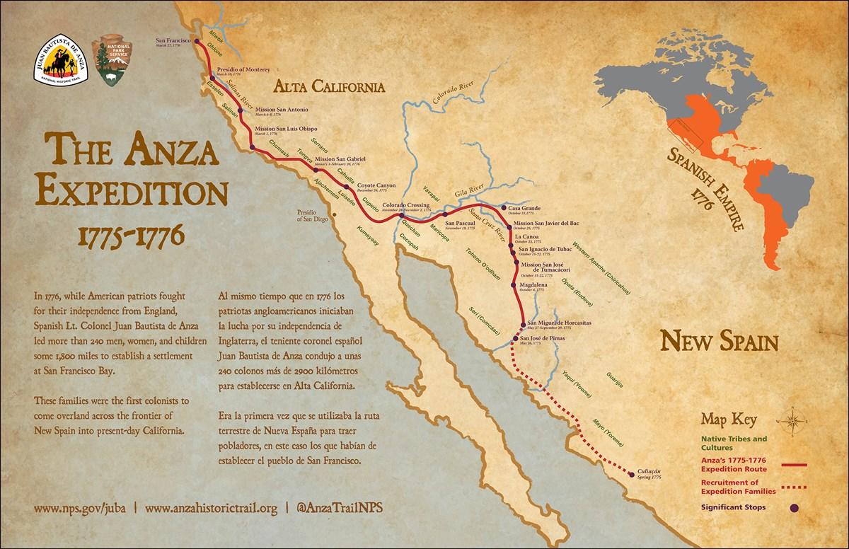 Juan Bautista De Anza Historic Trail – Trail of Native Americans, Spanish Explorers & Pioneers