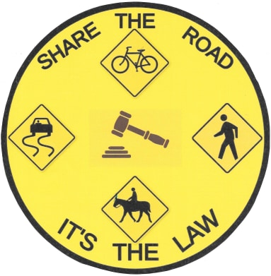 Share the road. It's the law.